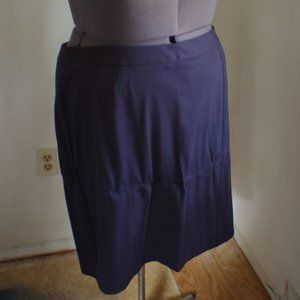 Knit Navy Pencil Skirt 28w NWT